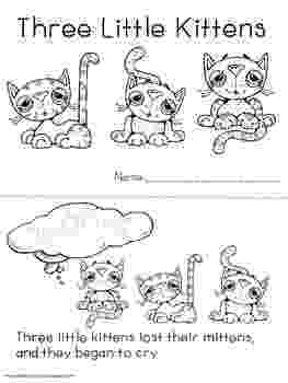 three little kittens coloring pages three little kittens coloring page mother goose club pages coloring kittens three little