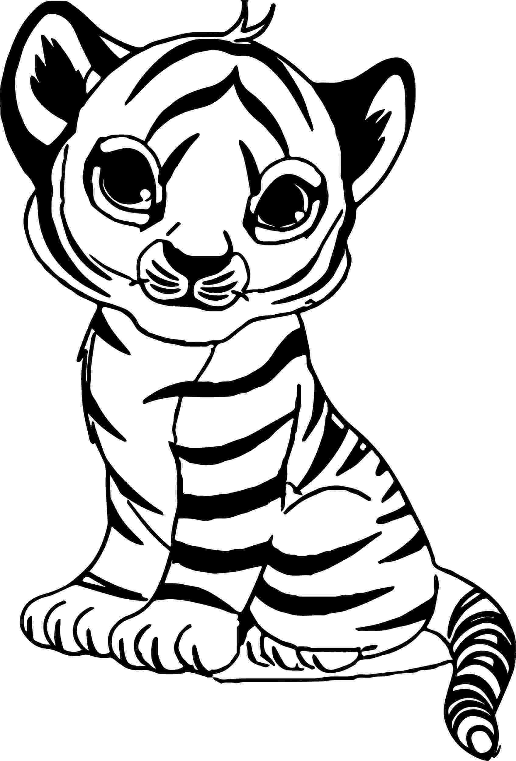 tiger printable nice cute baby tiger coloring page zoo animals baby tiger printable