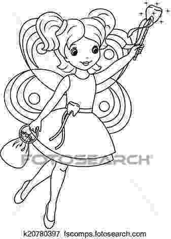 tooth fairy pictures to color tooth fairy coloring page clip art k20780397 fotosearch tooth pictures to fairy color