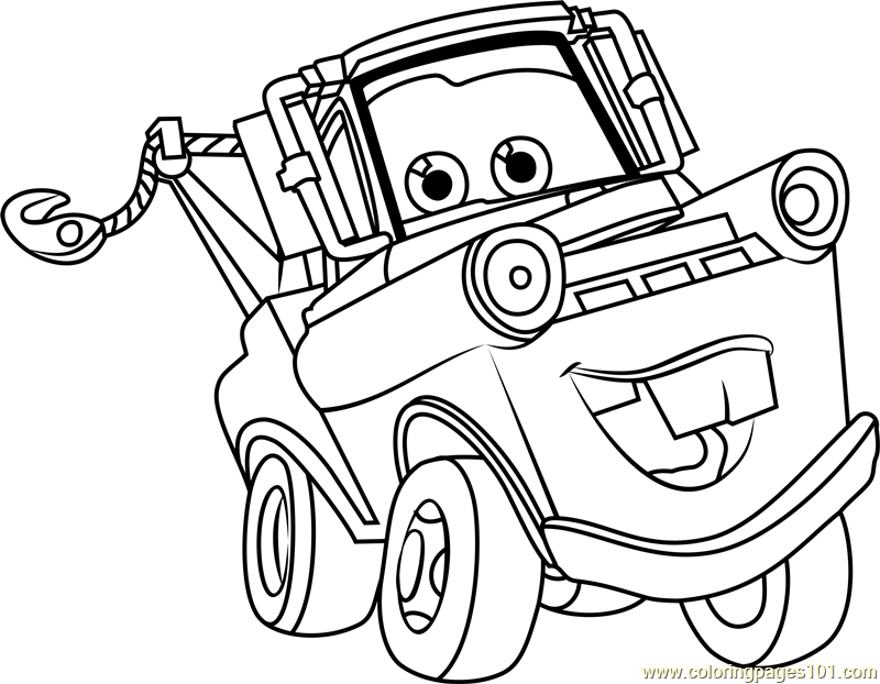 tow mater coloring pages tow mater coloring page mater the tow truck fan art mater tow pages coloring