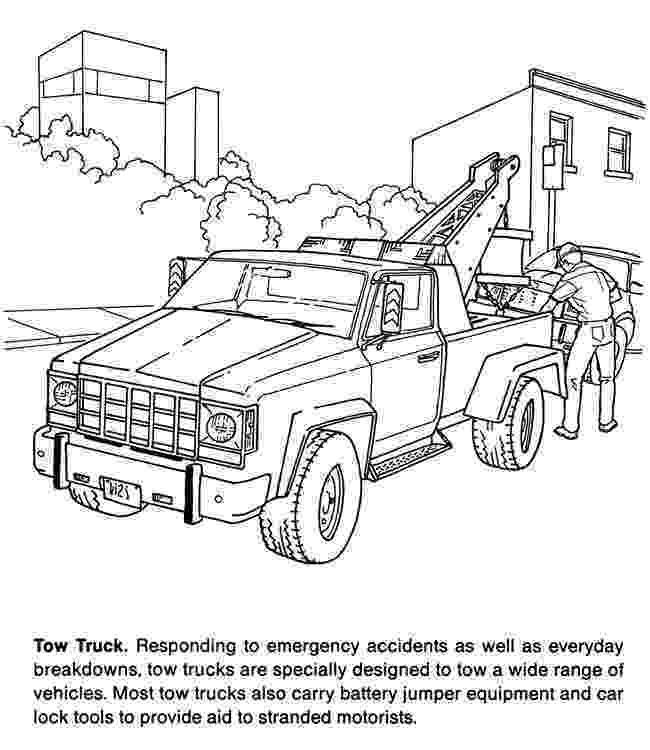 tow truck coloring pages tow truck coloring pages at getcoloringscom free pages tow truck coloring