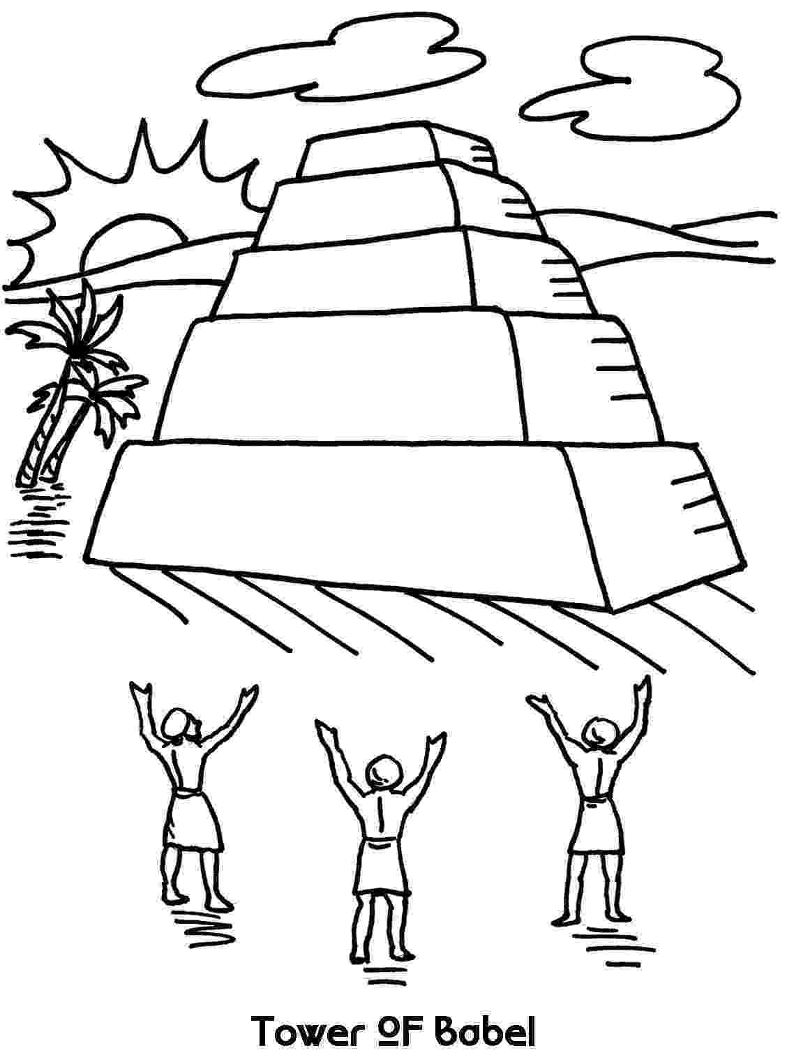 tower of babel coloring pages for kids tower of babel coloring page lesson 5 bible crafts for tower coloring kids babel of pages