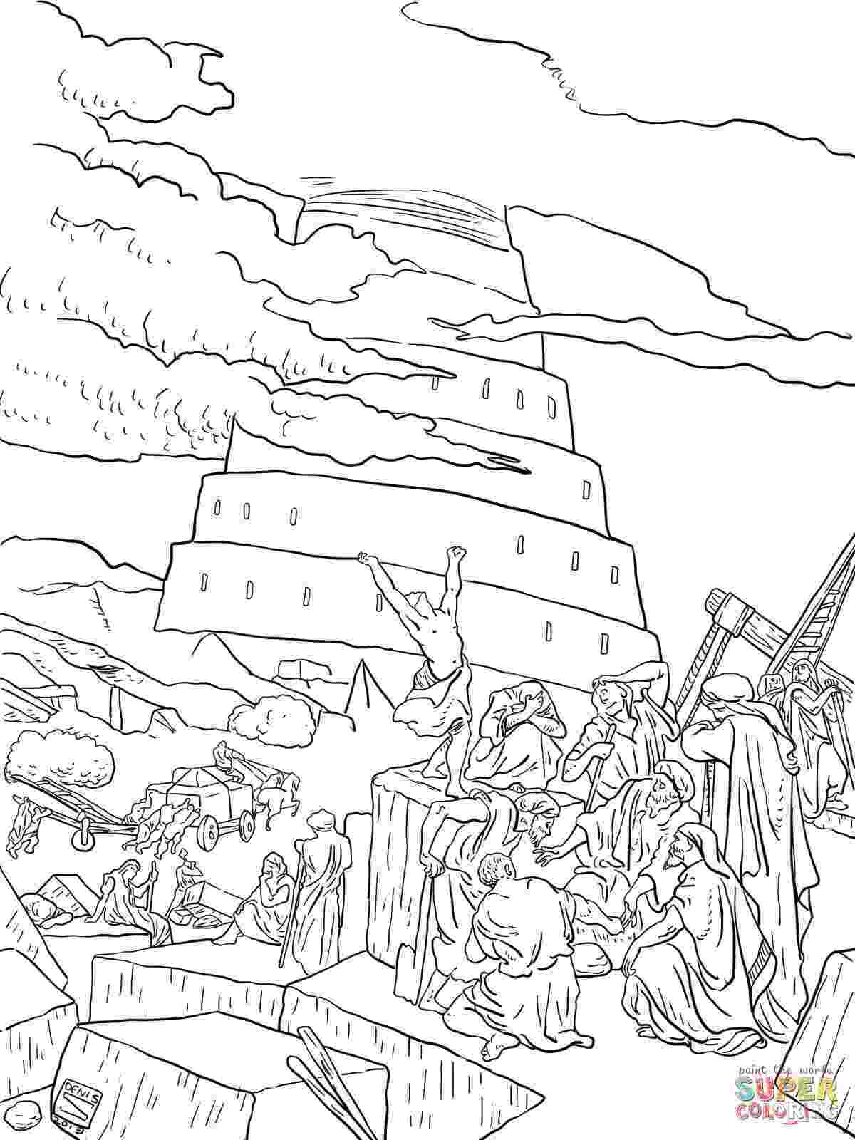 tower of babel coloring pages for kids tower of babel coloring pages for kids sketch coloring page tower coloring babel kids pages for of