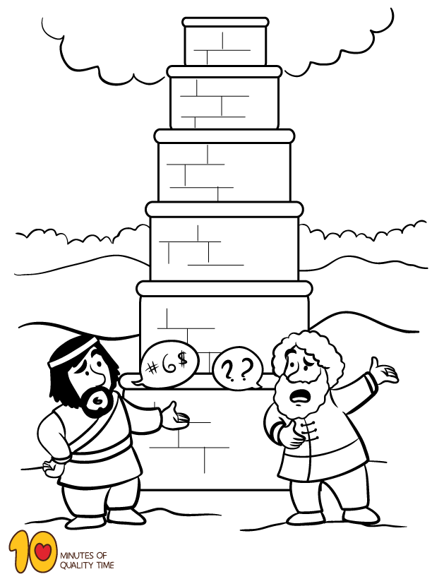 tower of babel coloring pages for kids tower of babel coloring pages free coloring home pages babel tower kids of for coloring