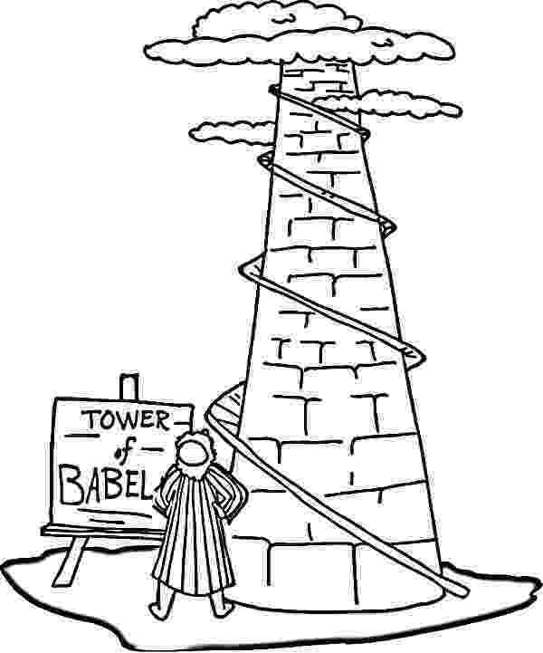 tower of babel coloring pages for kids tower of babel coloring pages tower of babel coloring babel kids of coloring tower pages for