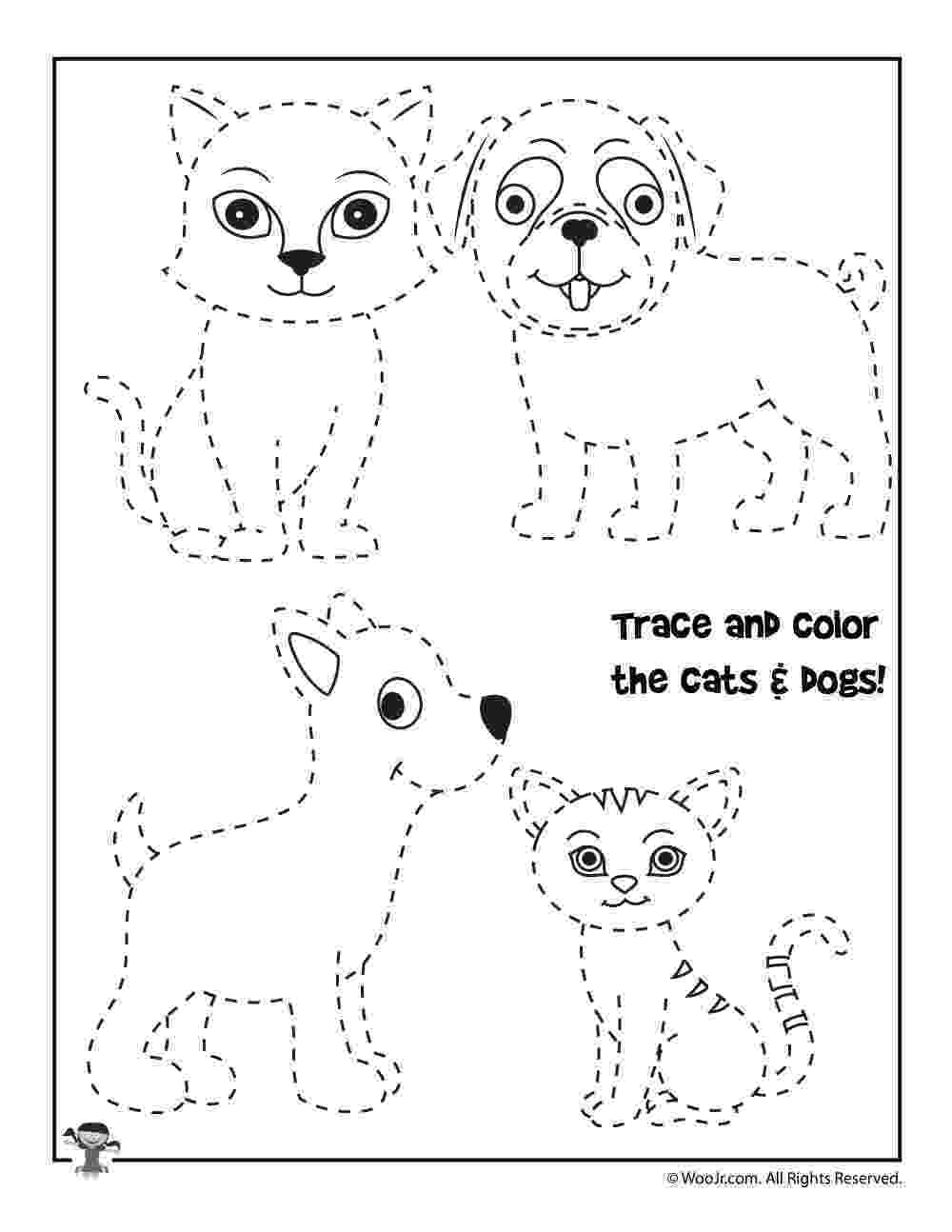 traceable dog pictures dog printables for kids dog activity pages pictures dog traceable