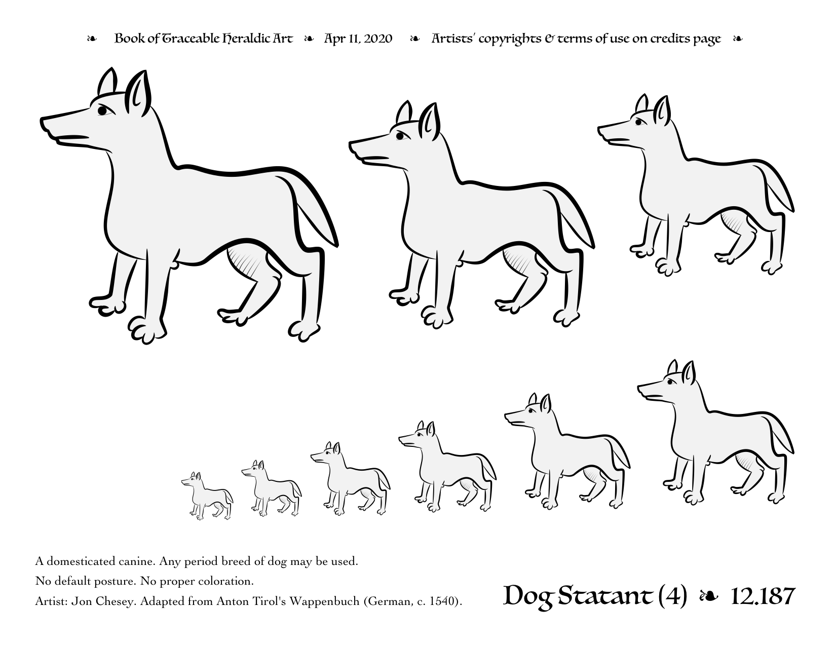 traceable dog pictures dog traceable heraldic art pictures dog traceable