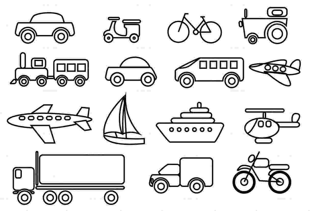 transport pictures to colour transportation coloring page for toddlers coloring pages to transport colour pictures