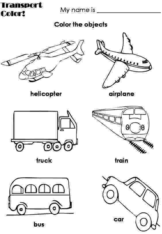 transport pictures to colour transportation coloring pages transportation worksheet to pictures colour transport