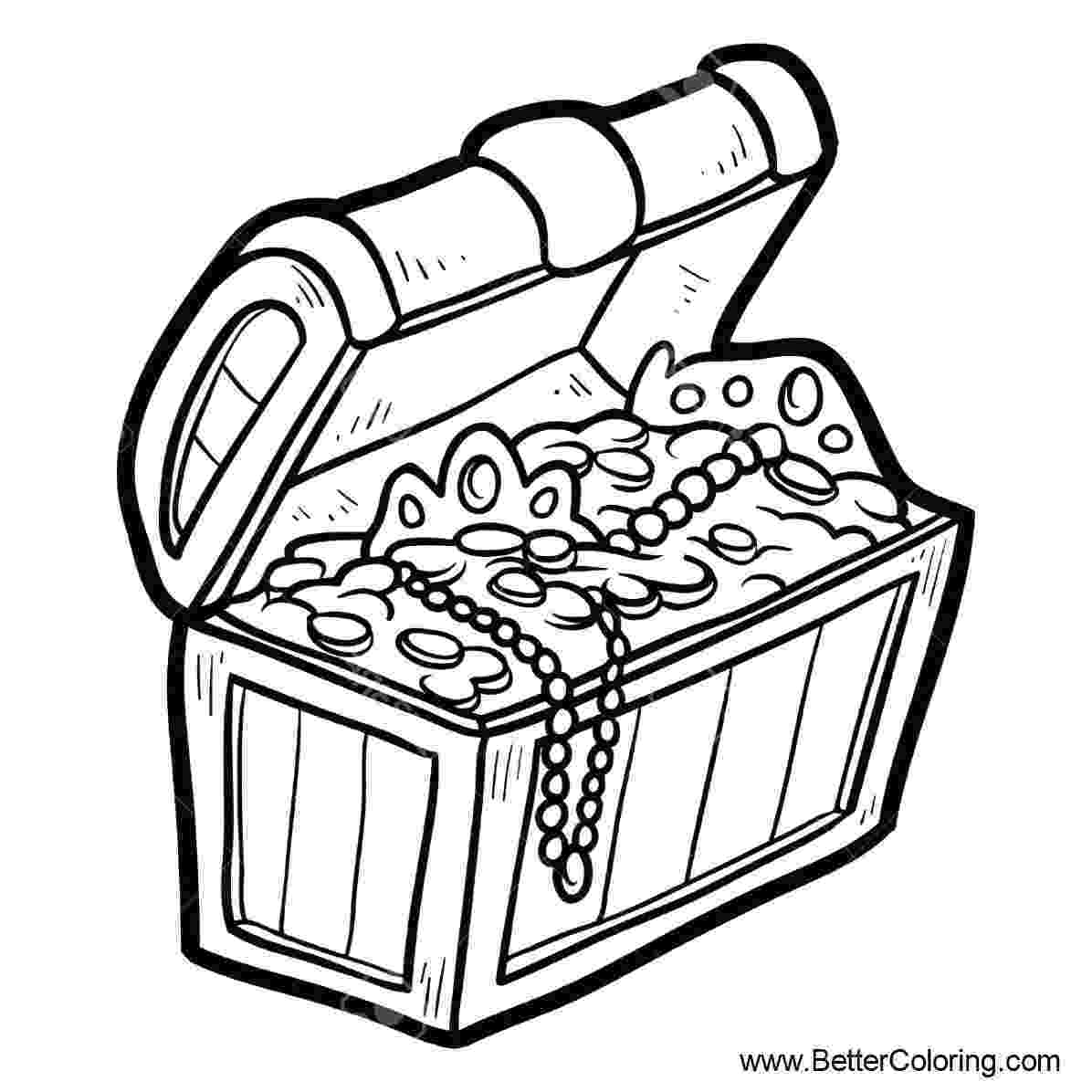 treasure chest coloring pages printable open treasure chest coloring page coloring home coloring pages treasure printable chest
