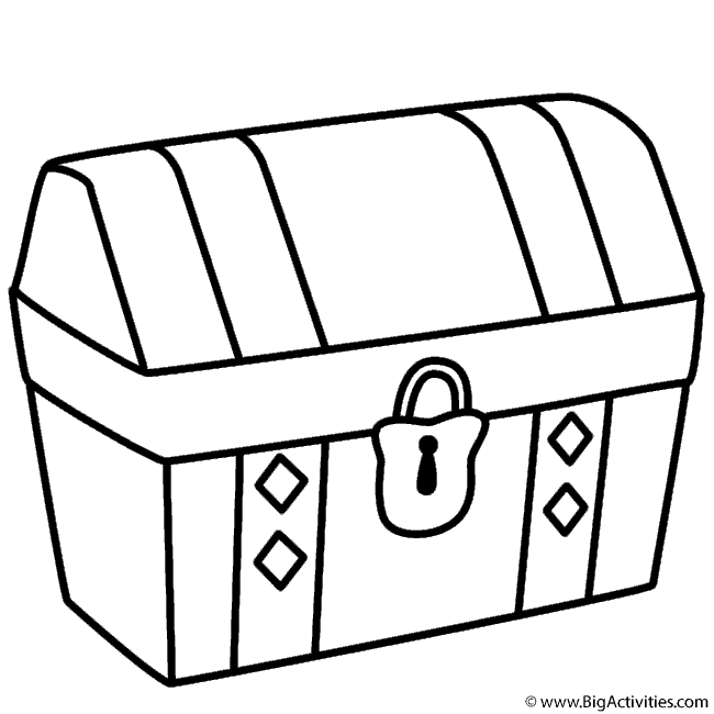 treasure chest coloring pages printable treasure chest coloring page pirates pages chest treasure printable coloring