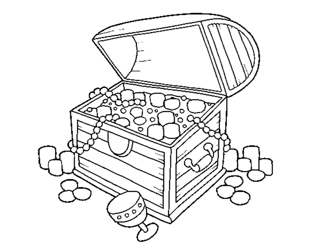treasure chest coloring pages printable treasure chest drawing at getdrawingscom free for pages coloring treasure printable chest