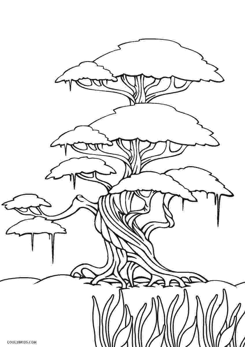 tree coloring pages nature apple tree coloring page for kids printable free tree coloring pages