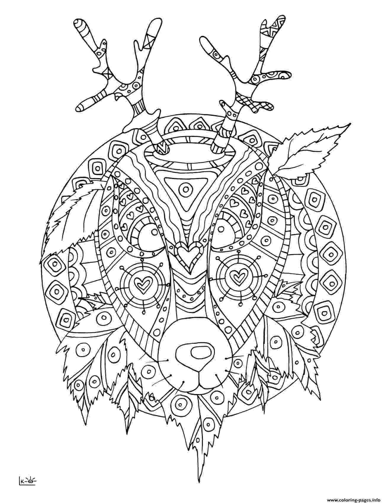tribal coloring pages bear with tribal pattern coloring page free printable coloring tribal pages