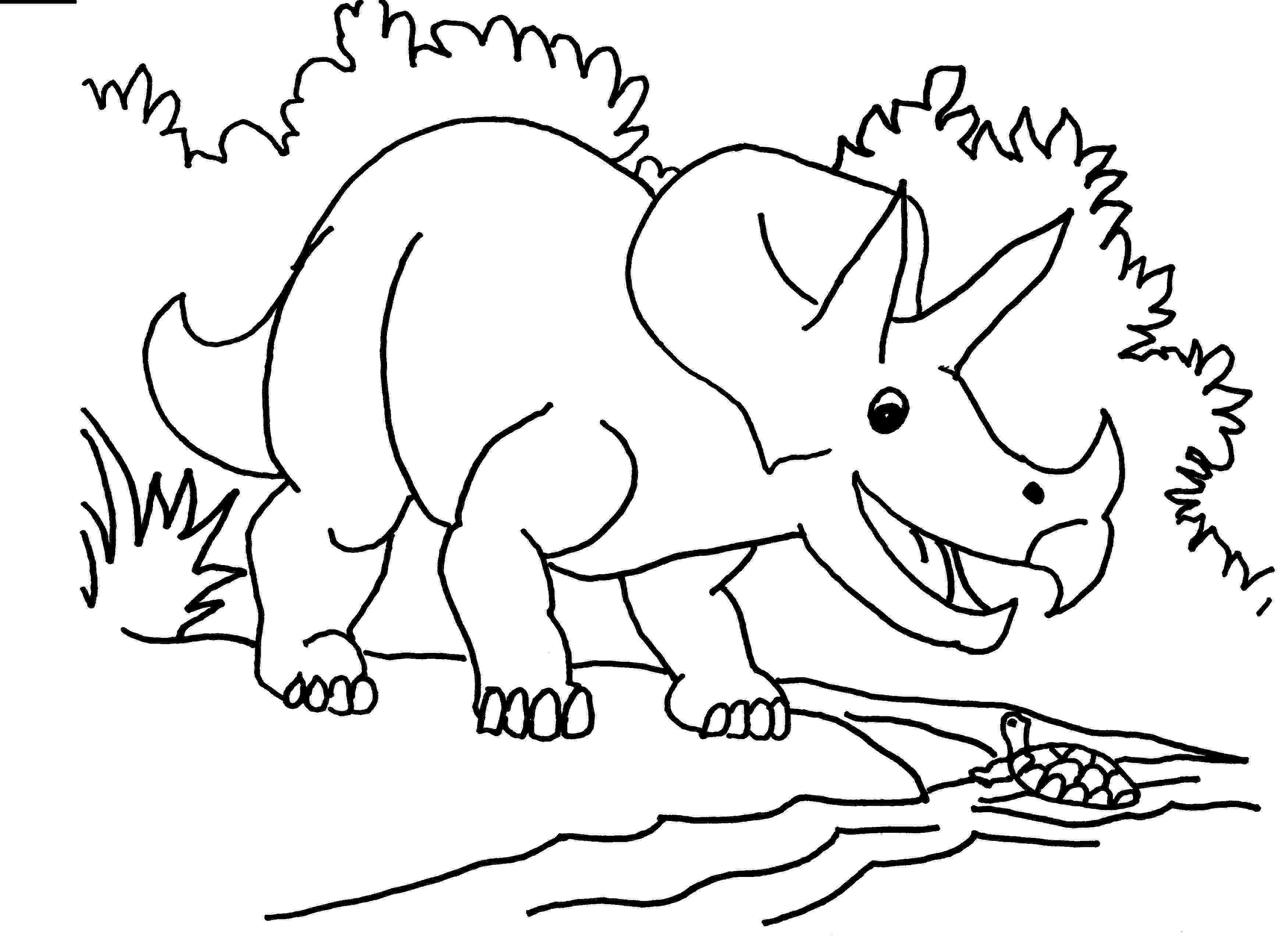 triceratops picture free printable triceratops coloring pages for kids picture triceratops 1 1