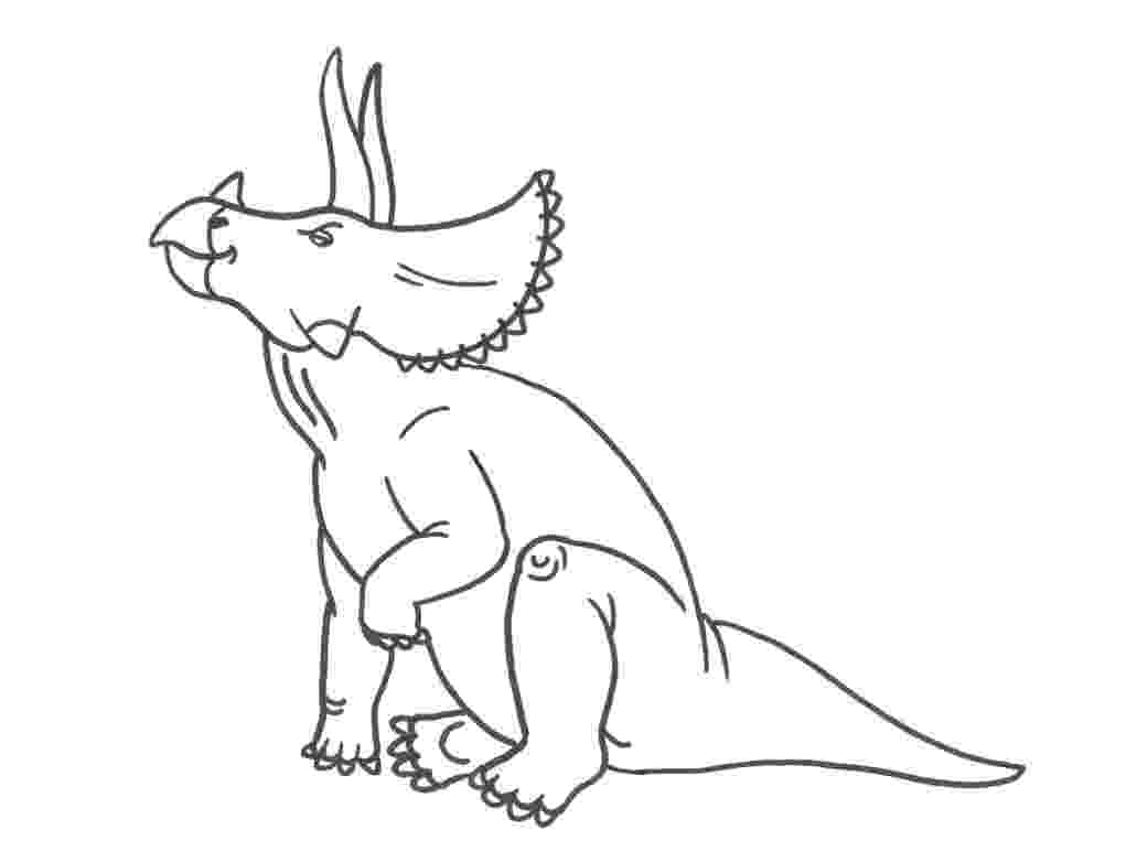 triceratops picture funny dinosaur triceratops cartoon coloring pages for kids picture triceratops