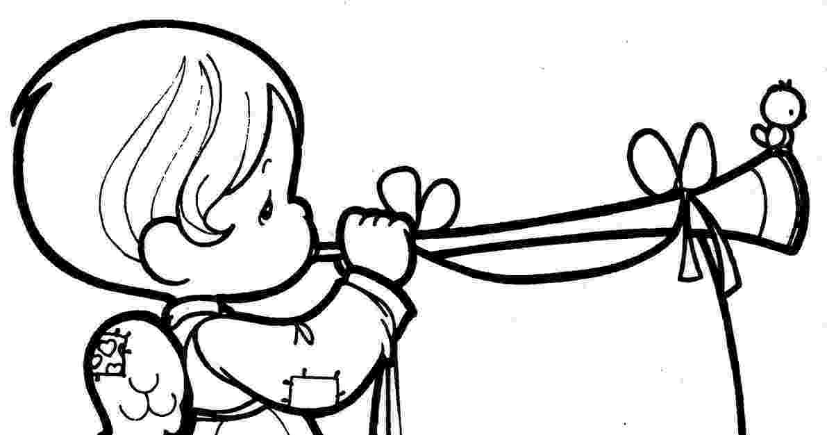 trumpet picture to color fairy playing trumpet coloring pages for kids picture color trumpet to