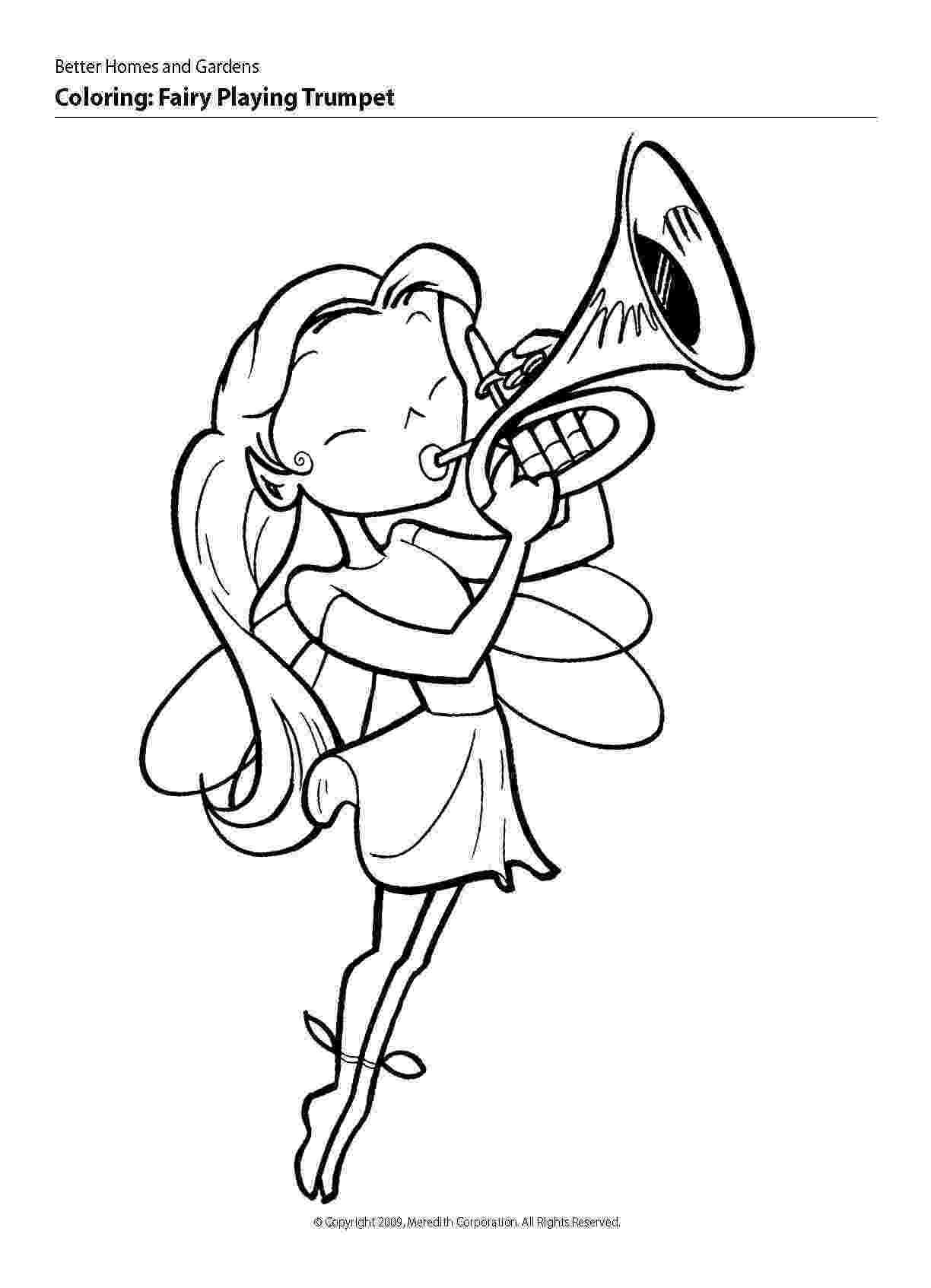 trumpet picture to color music coloring pages trumpet picture to color