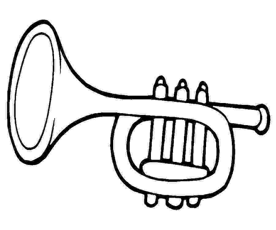 trumpet picture to color trumpet coloring page coloringcrewcom to color trumpet picture
