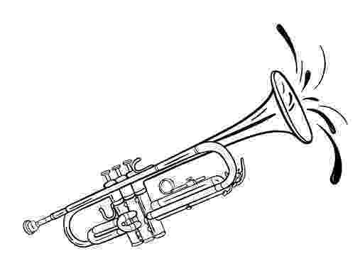 trumpet picture to color trumpet coloring pages kidsuki color trumpet picture to