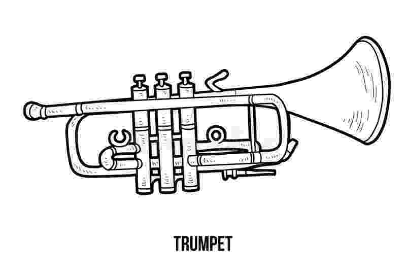 trumpet picture to color trumpet coloring pages kidsuki trumpet color to picture