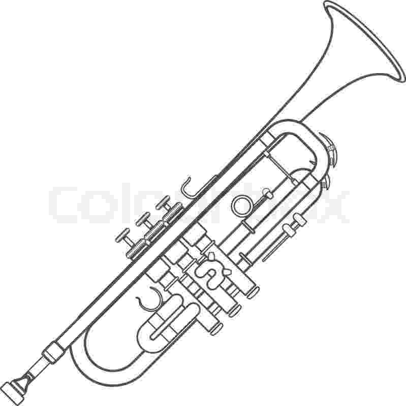 trumpet picture to color trumpet music color page coloring pages color plate picture to trumpet color