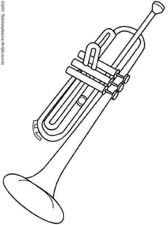 trumpet picture to color trumpet music color page coloring pages color plate trumpet to picture color