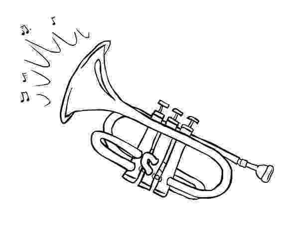 trumpet picture to color trumpet musical instruments pinterest musicals trumpet picture to color