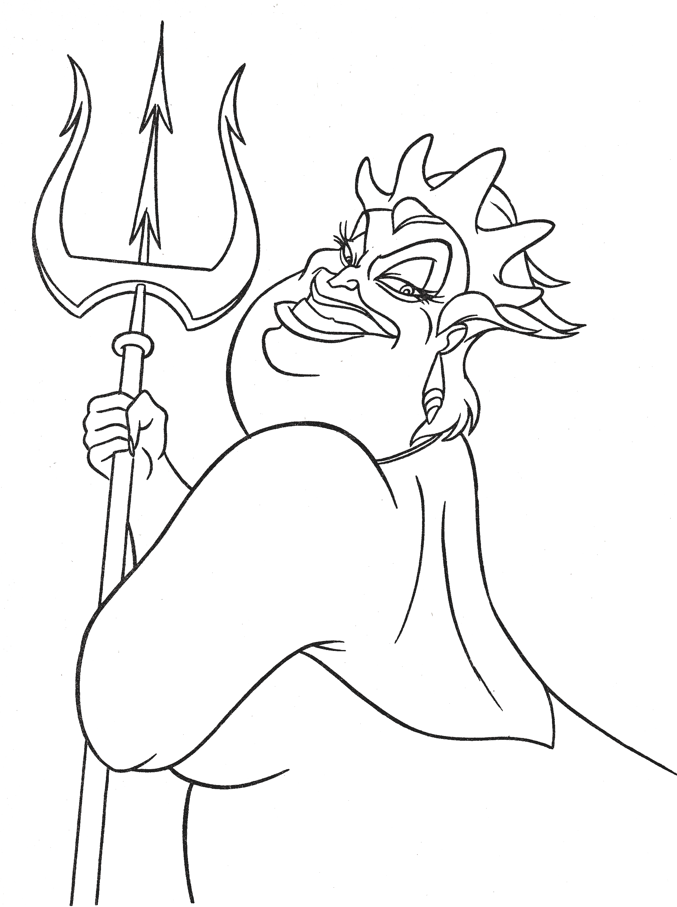 ursula coloring pages walt disney coloring pages ursula walt disney figuren coloring ursula pages