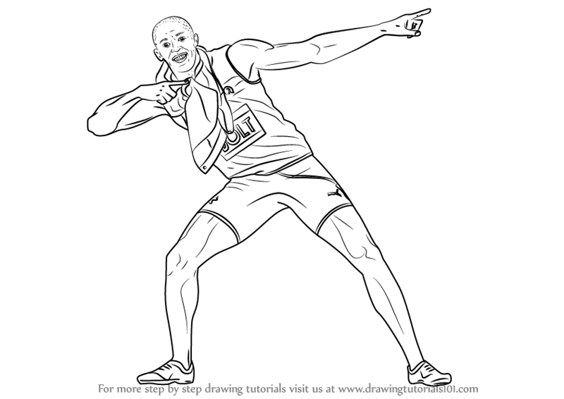 usain bolt coloring pages usain bolt coloring pages food ideas pages coloring usain bolt