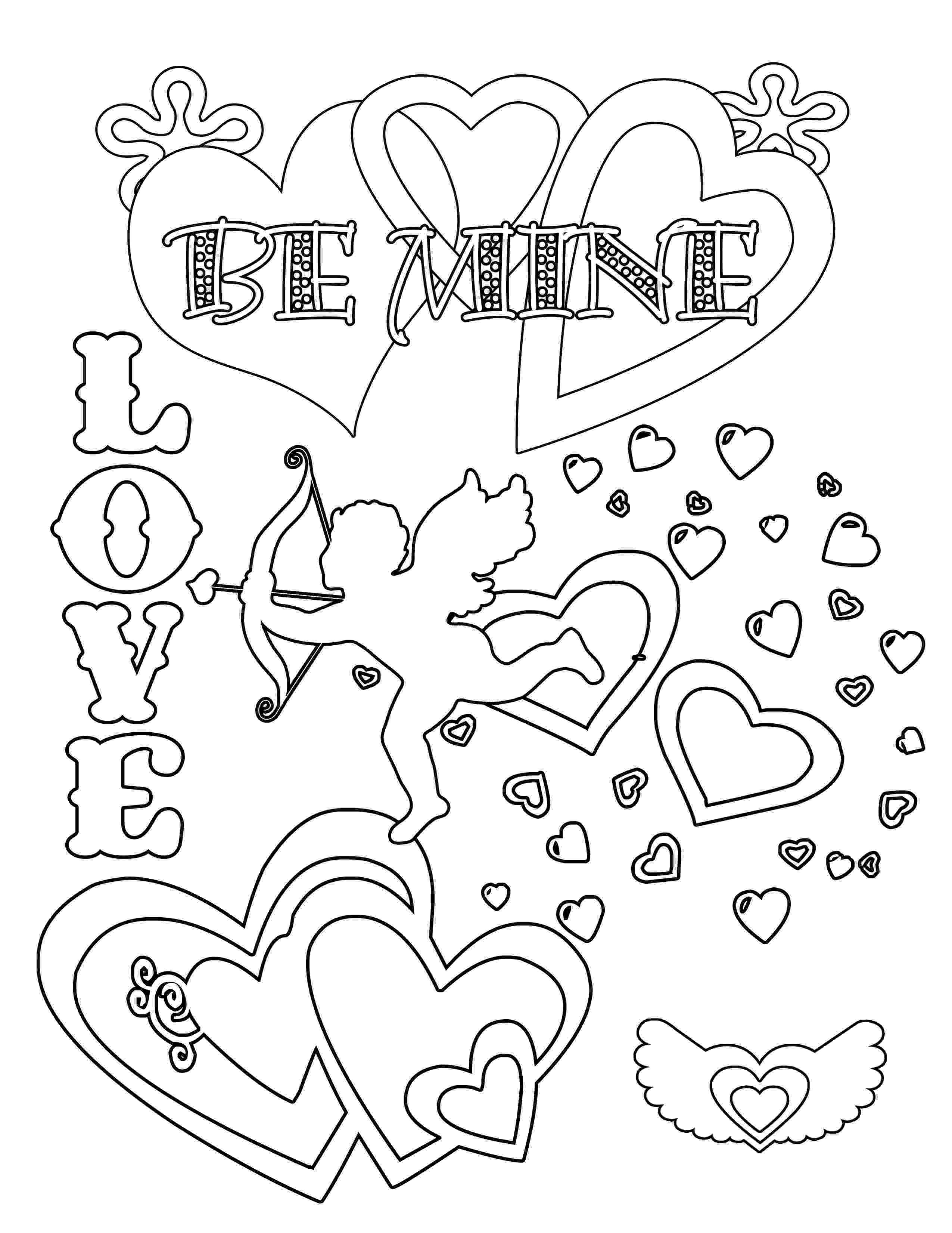 valentines day color pages valentines coloring pages happiness is homemade valentines day color pages