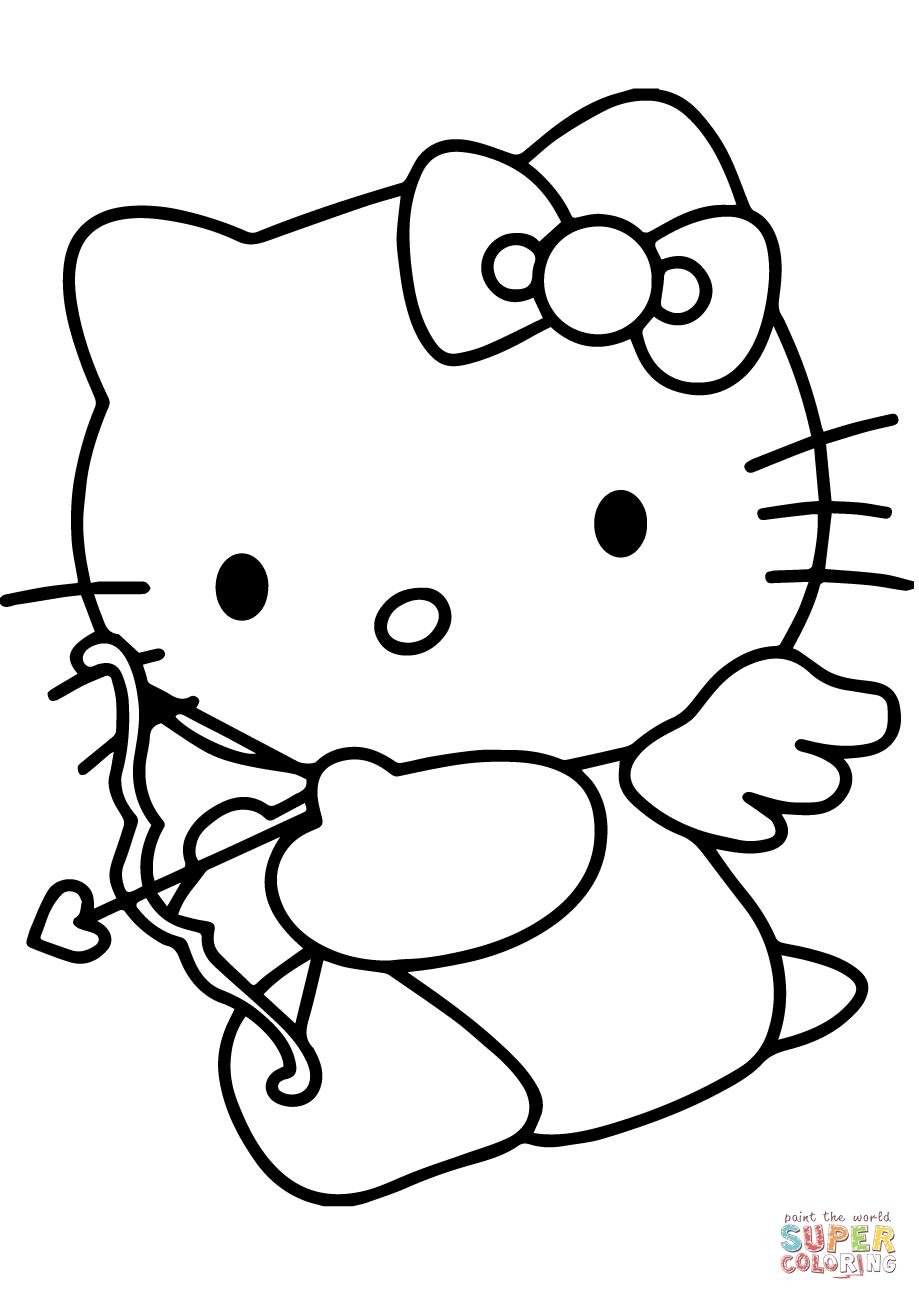 valentines day hello kitty february 2015 free coloring sheet valentines hello kitty day