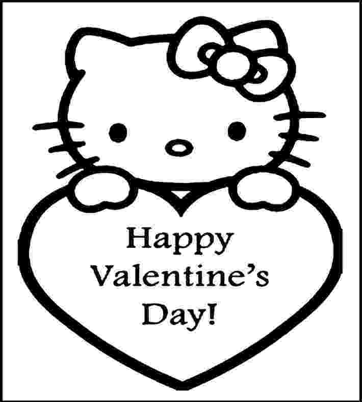 valentines day hello kitty happy valentines day from hello kitty coloring page for kitty hello valentines day