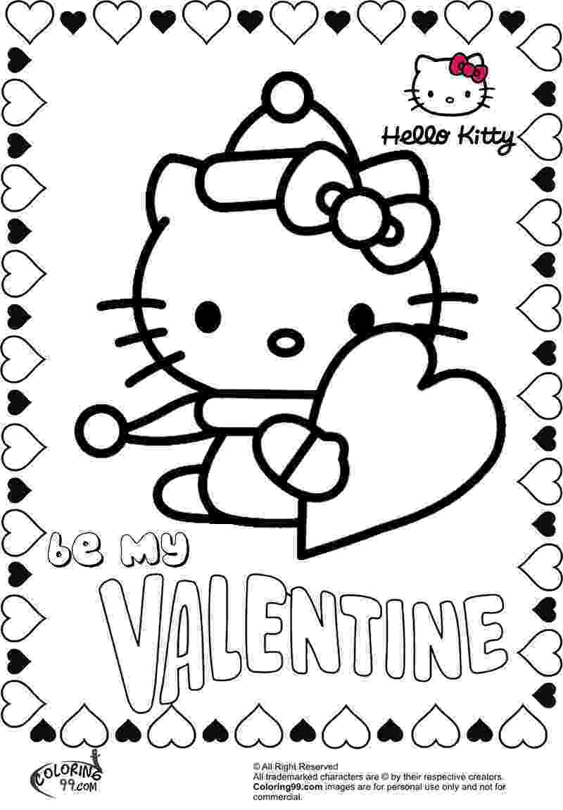 valentines day hello kitty hello kitty and flowers valentines coloring page h m hello kitty valentines day