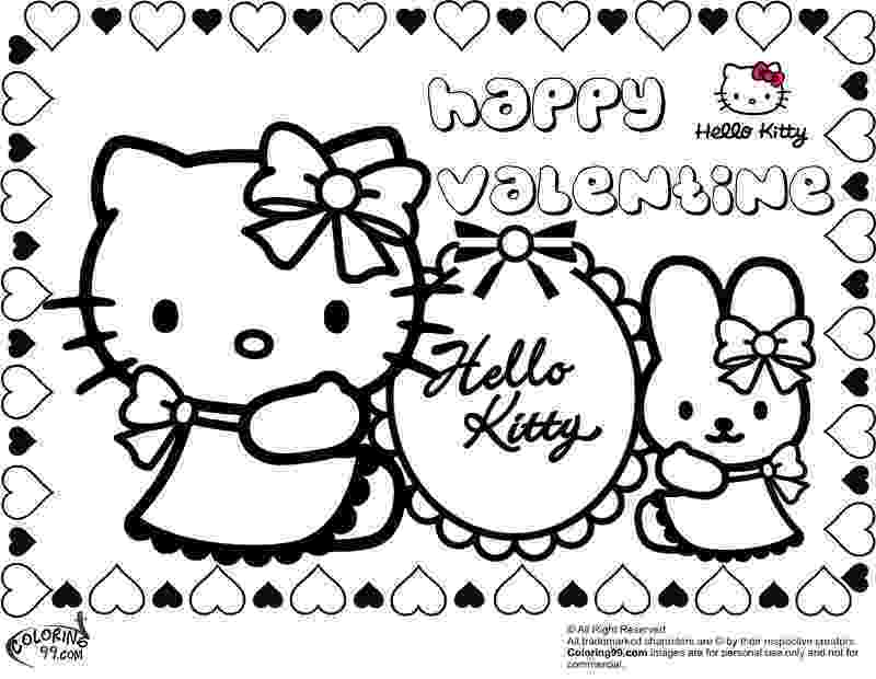 valentines day hello kitty hello kitty valentine coloring pages team colors hello valentines day kitty 1 1