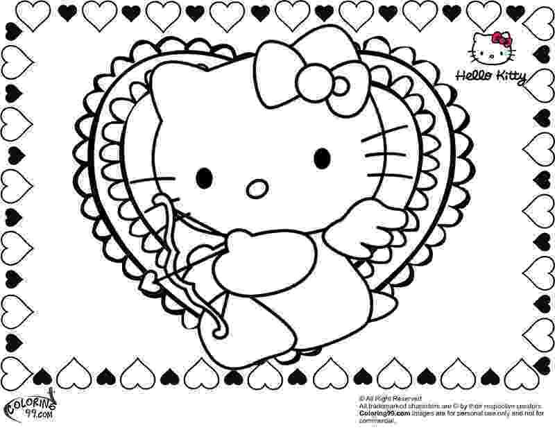 valentines day hello kitty hello kitty valentines day coloring pages best gift hello valentines kitty day