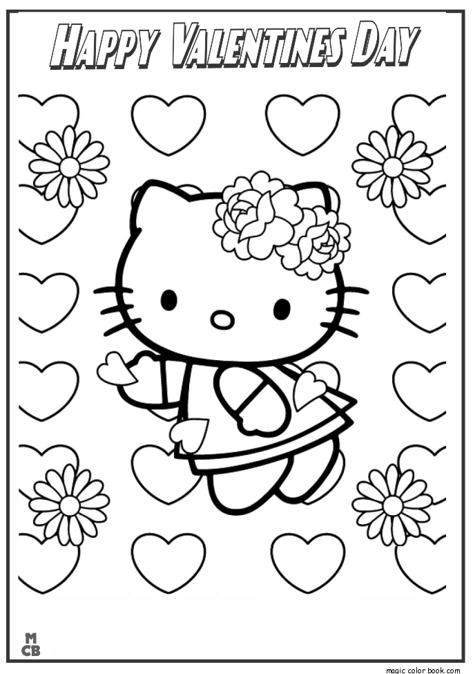 valentines day hello kitty valentines day coloring pages hello kitty valentine kitty day hello valentines
