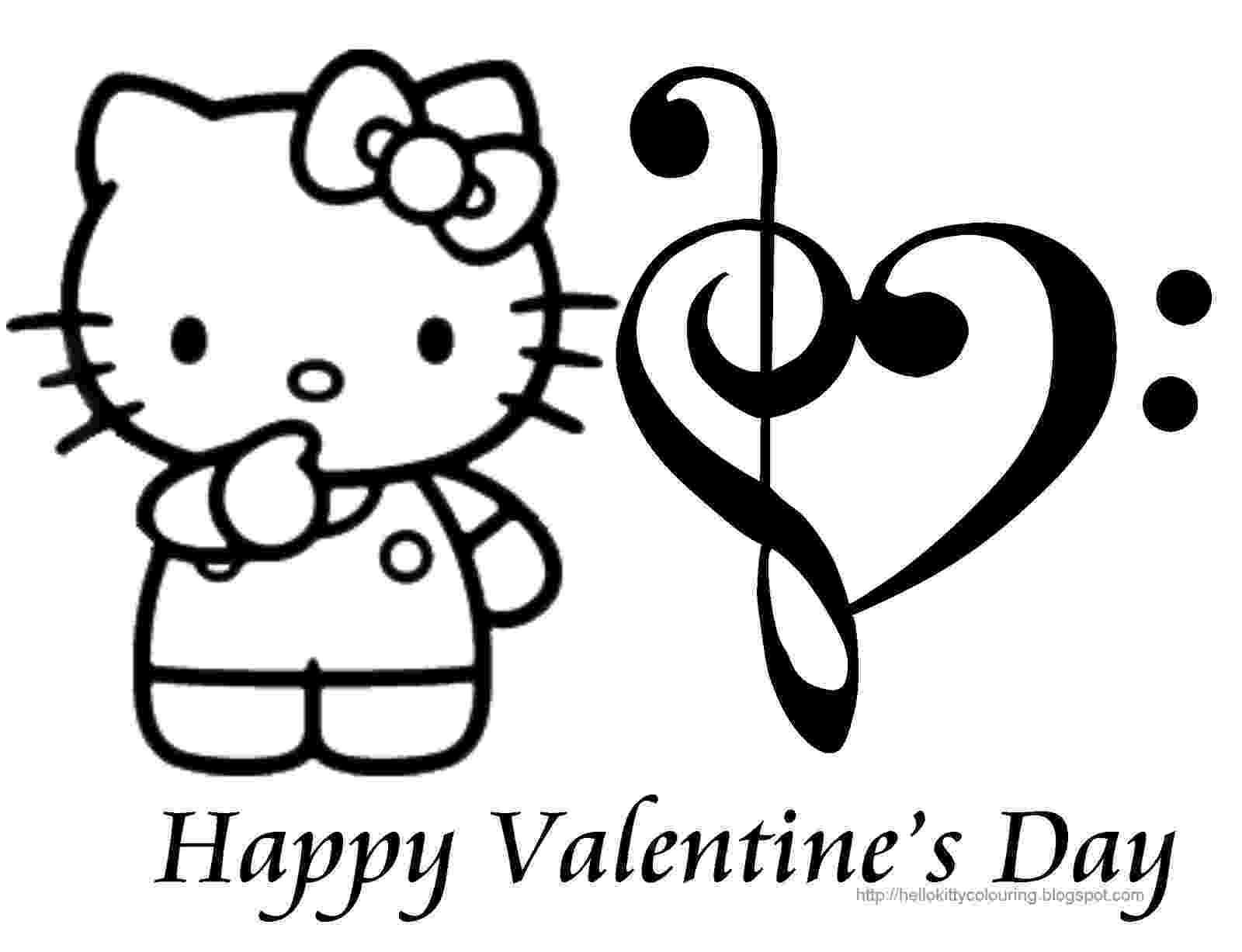 valentines pictures to color hello kitty valentines coloring pages hello kitty forever color to valentines pictures