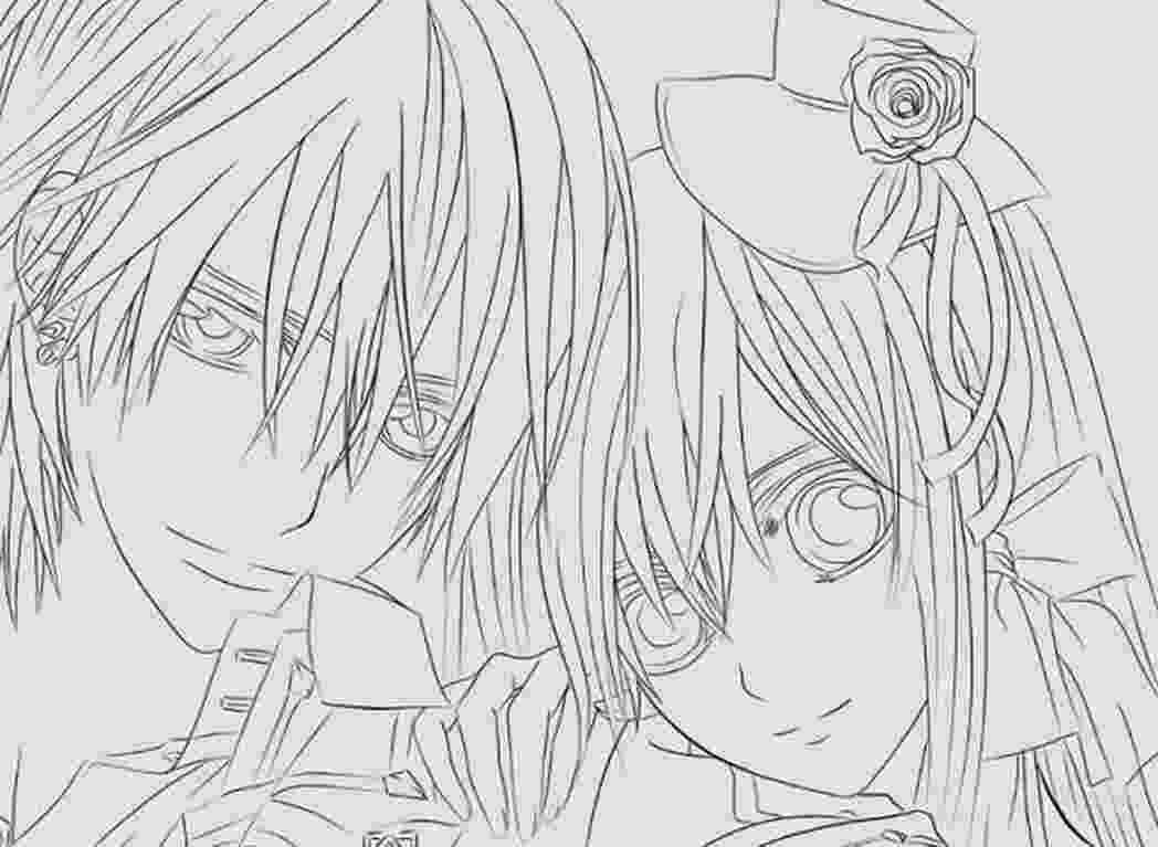 vampire knight coloring pages vampire knight anime coloring pages trend 603406 coloring pages vampire knight