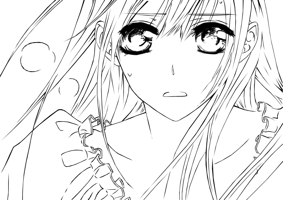 vampire knight coloring pages vampire knight lineart by hime soph on deviantart coloring knight vampire pages