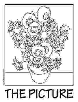 van gogh sunflowers coloring page 100 free coloring page of vincent van gogh painting gogh page sunflowers van coloring
