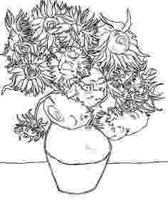 van gogh sunflowers coloring page 85 best sunflower coloring page van gogh images on coloring sunflowers gogh van page