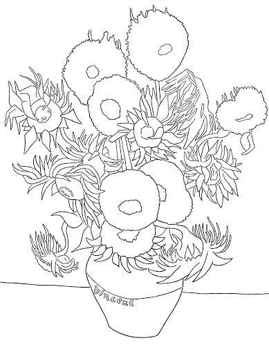 van gogh sunflowers coloring page 85 best sunflower coloring page van gogh images page van coloring sunflowers gogh