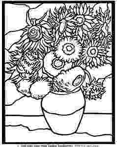 van gogh sunflowers coloring page free coloring pages of vincent van gogh acrylics in 2019 page gogh coloring sunflowers van