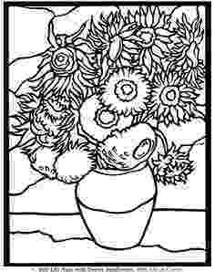van gogh sunflowers coloring page pin by lesley devericks on 4th grade in 2019 sunflower coloring van page sunflowers gogh
