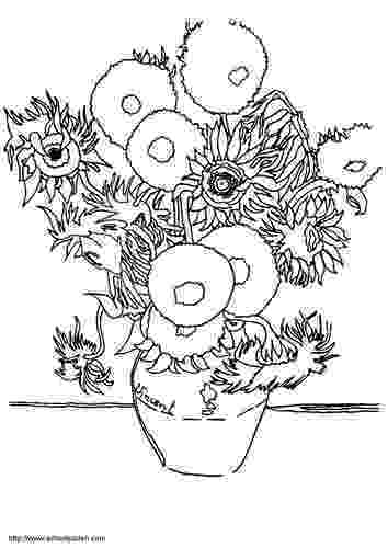 van gogh sunflowers coloring page sunflowers by vincent van gogh coloring page free sunflowers gogh coloring page van