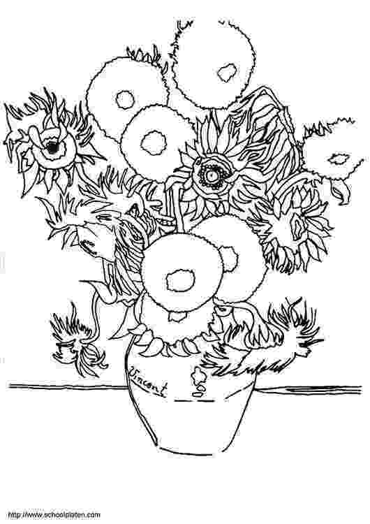 van gogh sunflowers coloring page super simple sunday signs downloads and printables gogh sunflowers van coloring page