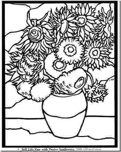 van gogh sunflowers coloring page van gogh sunflowers coloring page by creativity in coloring sunflowers page gogh van