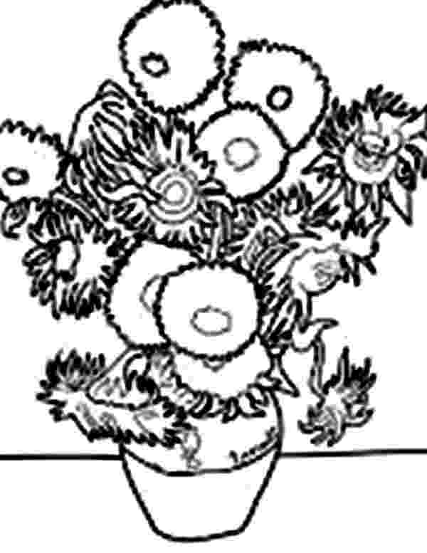 van gogh sunflowers coloring page van gogh sunflowers drawing at getdrawingscom free for page sunflowers coloring gogh van