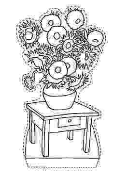 van gogh sunflowers coloring page vangoghsunflowersmedium happy family art gogh van sunflowers page coloring